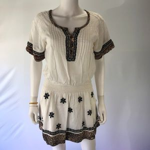 Free People XS White A Line Floral Dress